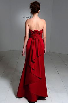 Love this bridesmaids dress!!  Deep red is my color. I wish I could see the front but the back is gorgeous