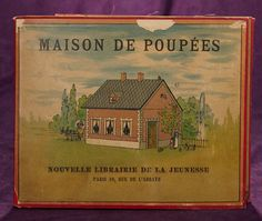 "French Lithographed Fold-Out ""Maison de Poupees"" 200/300 Modern Books, Vintage Ephemera, Dollhouse Miniatures, New Books, Doll Clothes, Bears, Childhood, Printable, Houses"