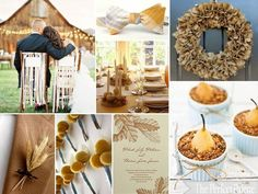 The Perfect Palette: {Harvest Romance}: A Palette of Latte, Powder Blue, Mustard, Camel, Gold+ White