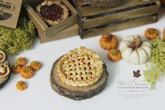 Dollhouse Miniature Fall Dessert 1/12thLattice by PetitDlicious
