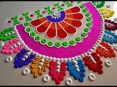 Very easy rangoli design by DEEPIKA PANT - YouTube