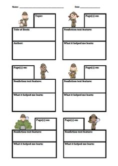 Nonfiction Text Feature Scavenger Hunt Graphic Organizer from Teaching Third on TeachersNotebook.com -  (1 page)  - Use this log to help your students keep track of the nonfiction text features they find as they read nonfiction texts. Nonfiction Text Features, Graphic Organizers, Teaching Ideas, Classroom Ideas, Literacy, Texts, Third, Track, Students