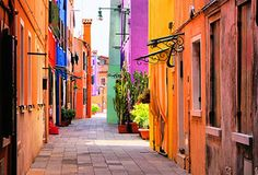 Colorful Street in Burano