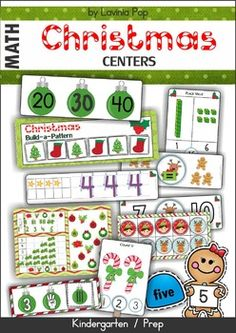 Christmas Math Centers for Kindergarten 87 pages.