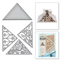 Shapeabilities Triangle Fretwork Rouge Royale by Stacey Caron Etched Dies