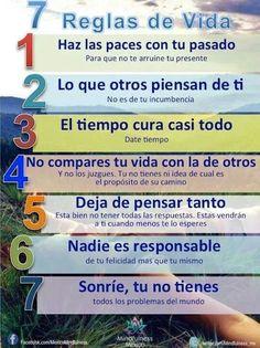7 Reglas de vida  #positivos #estudiantes #umayor #inteligenciaemocional