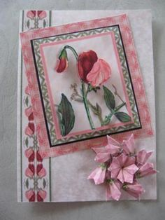 Decoupage with teabag folding: Decoupage cards I have made for your comments. The one of the sweet peas has a teabag medallion on it. Chrisitna says... You are very prolific Valerie