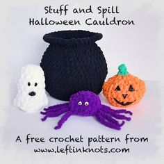A FREE pattern perfect for your littlest monsters.  Get your kids and babies into the Halloween spirit with this fun, plush toy  @yarnspirations