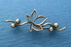 Art Nouveau Brooch Sterling Silver Antique Maple Leaf Hemming Manufacturing Company Circa 1905. $68.00, via Etsy.
