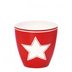GreenGate Star Mini Latte Cup - Red