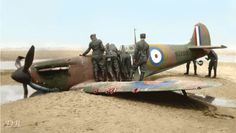 German soldiers inspect Sq/Ldr Geoffrey Dalton Stephenson's Supermarine Spitfire MK1 N3200 (RAF 19 Squadron) coded 'QV', after it was shot down on a beach at Sangatte, near Calais, while covering the evacuation of the Dunkirk beaches during Operation Dynamo, on May 26, 1940. Geoff spent the war in a number of German prison camps, making many escape attempts, and eventually was sent to Colditz Castle, the ultimate high security German prisoner of war camp. He was part of the team that built…