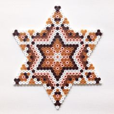 Autumn star mandala hama perler beads by coriander_dk