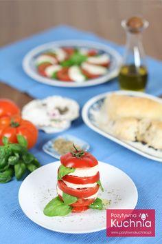 Sałatka Caprese z oregano - #przepis krok po kroku na sałatkę #caprese  http://pozytywnakuchnia.pl/salatka-caprese/  #kuchnia #pomidory
