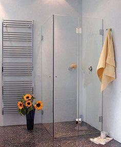 FKaS, Eck Falt-Dusche mit 2 Türen, Klarglas, Chrom, H=173cm