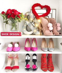 Shoe closet with pink shoes 💕👠 Flat Boots, Shoe Storage, Pink Shoes, Shoe Closet, Miu Miu Ballet Flats, Beautiful Shoes, Designer Shoes, Editorial Fashion, What To Wear