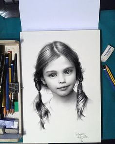 Girl Realistic Drawing by Fraderos http://webneel.com/25-beautiful-color-pencil-drawings-valentina-zou-and-drawing-tips-beginners   Design Inspiration http://webneel.com   Follow us www.pinterest.com/webneel