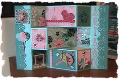 Cricut Inspired Handmade Cards: Tri Shutter,  #Bo Bunny, Birthday Card #folded card