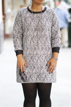 Low Price Fabric: Lace Knit Dress: Sew-Along Simplicity 1317