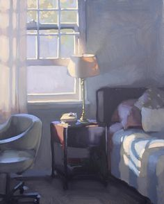 Jennifer Diehl - Bedside Manor - Oil - 20 x 16