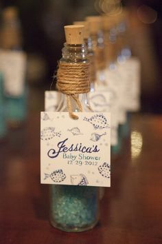 The cutest little favors for an Under The Sea baby shower!