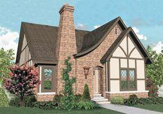 Charming 3-bedroom Tudor style home with well designed floor plan.  Tudor House Plan # 651127.