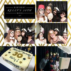 Kelly celebrated her 30th birthday party in true form! My favorite booth pic was the unicorn and cow photobomb. The girls were so preoccupied with how they looked they didn't notice the guys in the background! Lol! Kelly served her guests deliciously moist cake from @cakefections. I had a blast with this crew! #cakefections