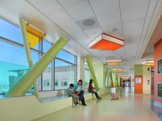 UCSF Medical Center at Mission Bay Benioff Children's Hospital - in San Francisco, CA  Custom CP Ceiling Fixtures. (CCP)