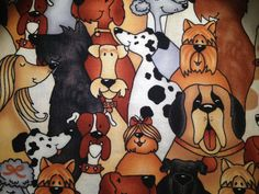 DOGS DOGS DOGS by LHMaterials on Etsy, $4.00