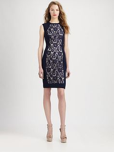 Fashion Star - Lace Knit Dress by Hunter Bell - Saks.com