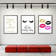 Superb 3 DIGITAL Prints,Audrey Hepburn Print,Bedroom Print,Lips Print,bedroom Decor