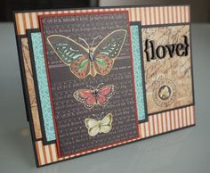 Graphic45 card by Laura Denison, love the layers