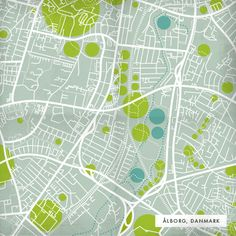 Very simplistic map diagram, but informative nonetheless. Map of Ålborg, Danmark showing transportation, green spaces and waterways. Information Design, Information Graphics, Map Design, Layout Design, Map Diagram, Campus Map, Concept Diagram, City Maps, Architecture Drawings