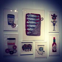 Pop culture/pop art crochet by Kate Jenkins -- I NEED Woolin' Donuts... and the hookin' Starbucks siren....  Would be cute in a crocheters kitchen...