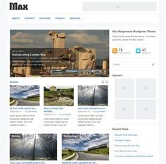 This free responsive WordPress magazine theme features a jQuery slider, a clean design, a widgetized footer and sidebar, built-in pagination, custom background and menu support, social media integration, and more.