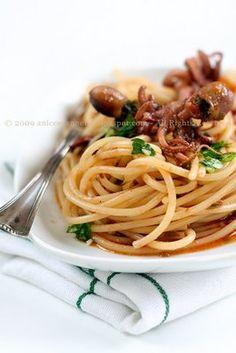 Spaghetti ai Moscardini  (Spaghetti with Octopus)