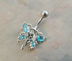 Belly Button Jewelry Ring Butterfly Fairy with by MidnightsMojo, $14.50