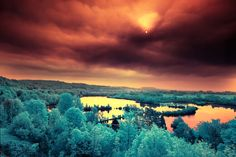 Breathtaking Multicolored Infrared Landscape (from Infrared series) | By: David Kecochkerian, via My Modern Metropolis