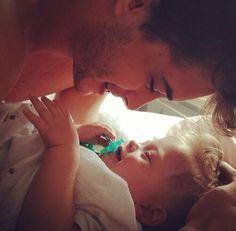 Francisco Lachowski w/ baby Milo