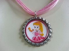 Baby Aurora Bottle Cap Necklace by KristyJsCreations on Etsy, $5.99