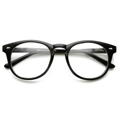 Vintage Shiny Black Rx Optional Round Glasses 8712ZU ( 30) ❤ liked on  Polyvore featuring 87ba371d05
