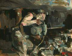 """Drilling"" - Original Fine Art for Sale - © Darren Thompson"