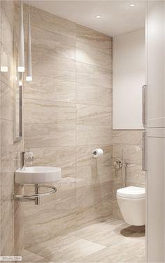 61 calm and relaxing beige bathroom design ideas - digsdigs Beige Tile Bathroom, Bathroom Tile Designs, Bathroom Layout, Modern Bathroom Design, Bathroom Interior Design, Bathroom Small, Bathroom Ideas, Bathroom Vanities, Ikea Bathroom