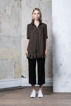 Riley Shirt | Khaki | $149.00 | Rollickthelabel
