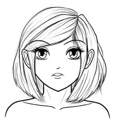 Learn to draw manga faces step by step