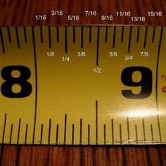 Wood Profit - Woodworking - how to read a measuring tape. Its sad I really can never remember what each mark is for! :) Discover How You Can Start A Woodworking Business From Home Easily in 7 Days With NO Capital Needed! Wood Projects, Sewing Projects, Furniture Projects, Furniture Plans, Tips & Tricks, Simple Life Hacks, Tape Measure, How To Measure, Do It Yourself Home