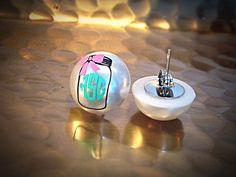 Monogrammed Pearl Earrings, Mason Jar Earrings, Monogrammed Pearls, Initial Earrings, Pearl Earring, Monograms, Monogrammed, Bridesmaid Gift