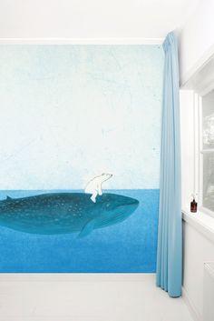 Geillustreerd fotobehang voor de kinderkamer - Wallpaper Stories