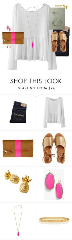 """what do y'all think of my drawing?"" by smbprep ❤ liked on Polyvore featuring Abercrombie & Fitch, Clare V., Kaanas, Kendra Scott and Kate Spade"