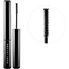 Marc Jacobs Beauty Feather Noir Ultra-Skinny Lash Discovering Mascara ($24) ❤ liked on Polyvore featuring beauty products, makeup, eye makeup, mascara, paraben free mascara, marc jacobs, smudge proof mascara, marc jacobs mascara and lengthening mascara