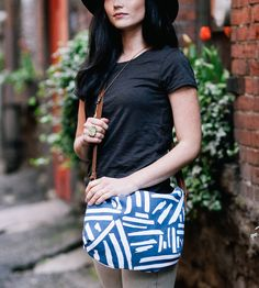 Hand-Painted Marks Pattern Crossbody Bag by Such Sweet Tierney on Scoutmob